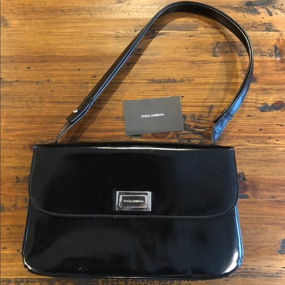 a215594289 Dolce   Gabbana Handbags - Vintage Dolce Gabbana Black patent bag purse